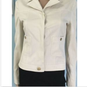 CHANEL Jacket Blazer Ivory Gold Buttons France 2